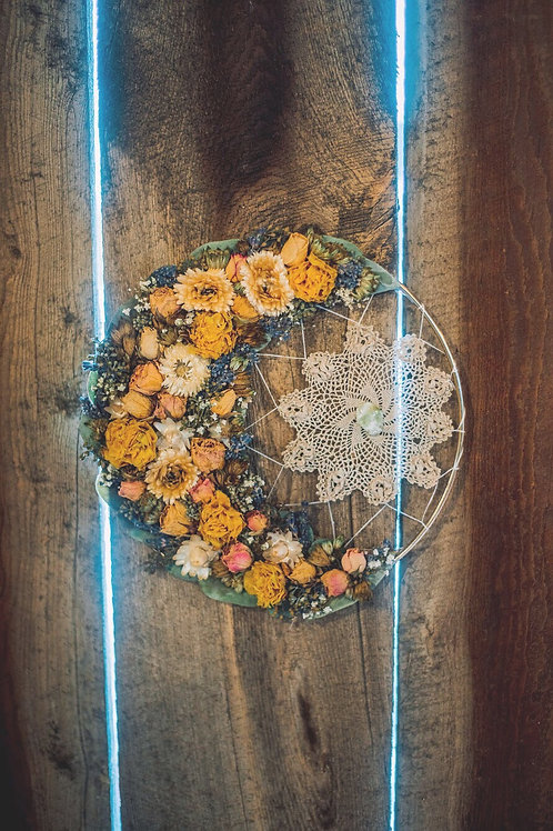 Good Vibes Lace Floral Moon