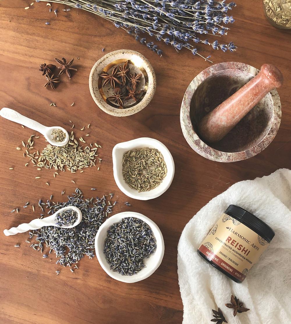 adaptogenic herbal plant based hot milk beverage recipe for mercury retrograde