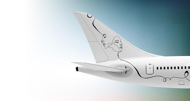 DERIVE TAIL B787 A350 DESIGN LIVREE DOUBLEFACE