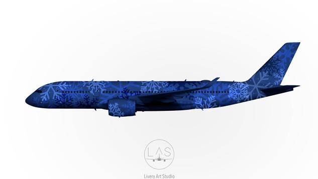 A350 LIVREE NOEL FLOCONS