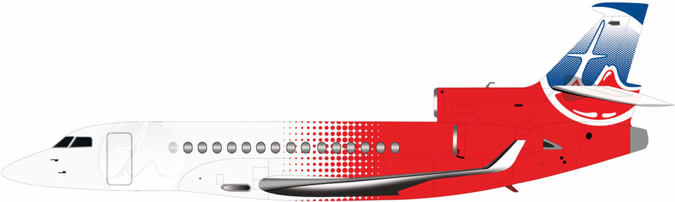 Falcon 8X Red Livery