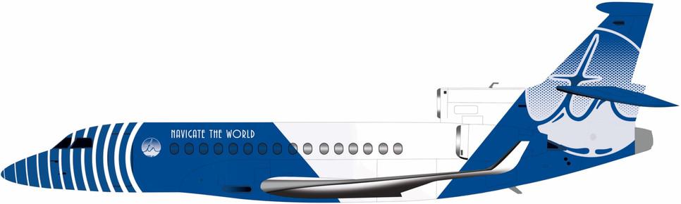 Falcon 8X Blue Livery
