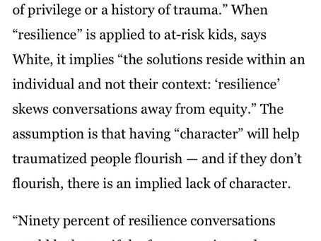 Why I hate the term resiliency