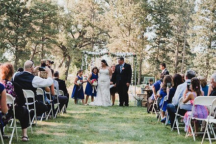 Botanical gardens wedding venue near Cheyenne Wyoming