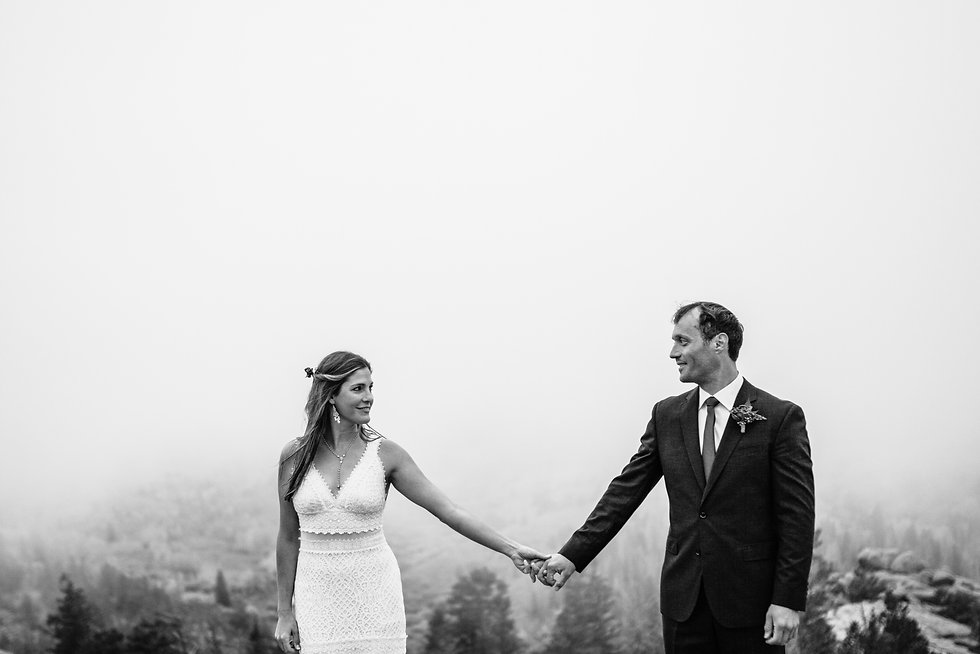 bride and groom in Vedauwoo day after wedding session
