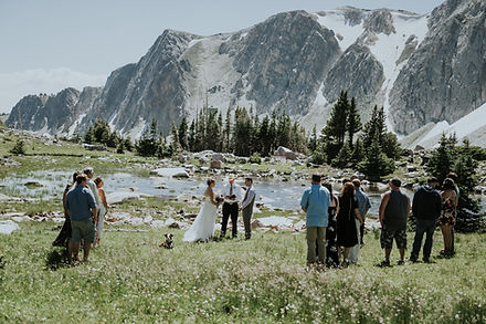 wedding venue in the Snowy Range  Medicine bow national forest Wyoming