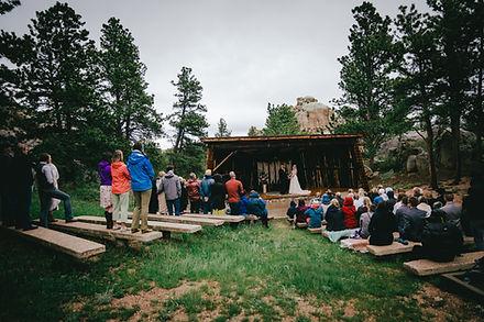 Curt Gowdy Amphitheater wedding venue near laramie Wyoming