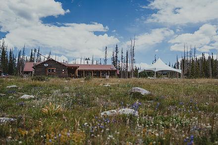 Brooklyn lake Lodge wedding venue in Centennial Wyoming