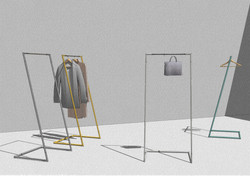 Möbelentwurf Garderobe