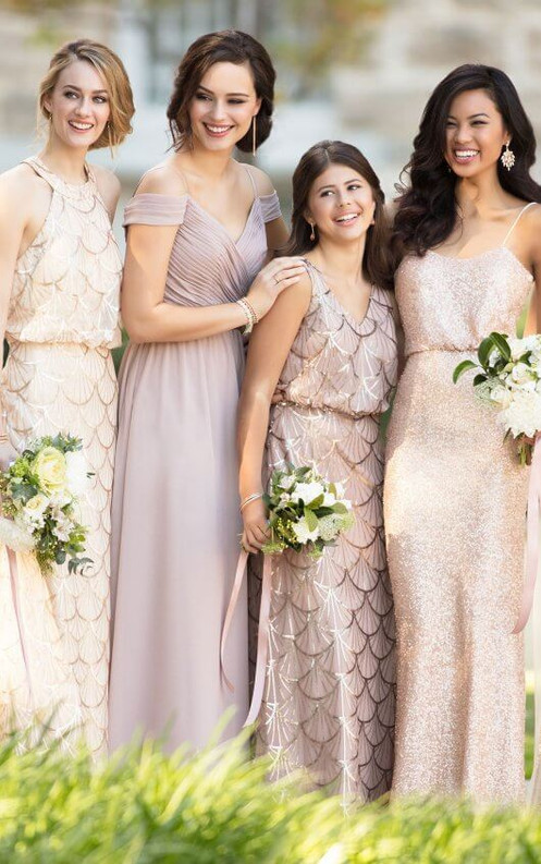 a16ec1eb Mix with other fabrics to create a custom bridal party look or with solid  sequin to let maid of honor stand out.