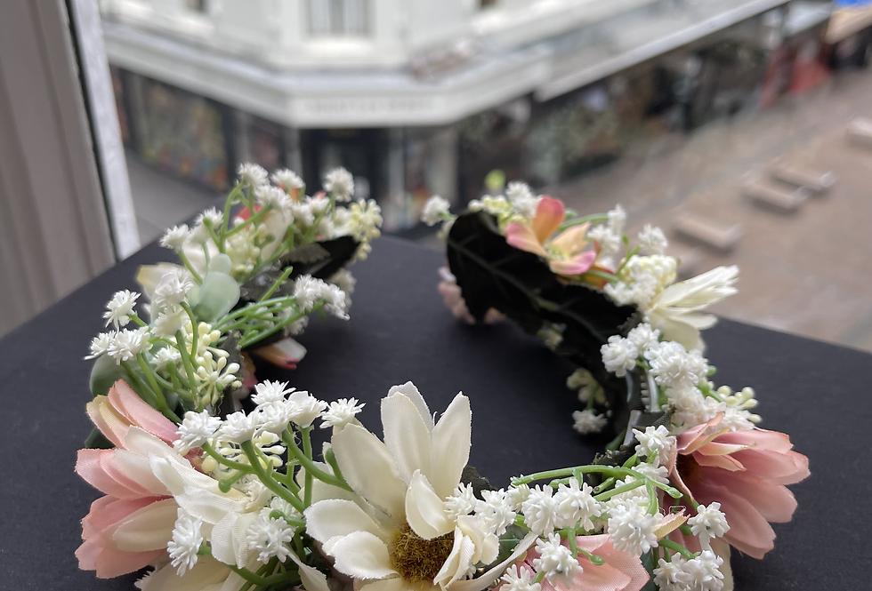 Faux Flower Crown (Pink Tones)