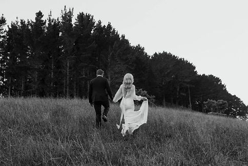 Real Felicitys Bride Casey wearing the Archie gown by Made With Love Bridal in New Zealand.