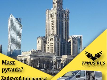 Poszerzamy nasze usługi na rejon Warszawy i okolic!   Timus Bus, Bus z Warszawy do Niemiec, Holandii