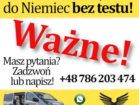 Od 09.05.2021 r. wjazd do Niemiec możliwy bez testu na COVID   Timus Bus