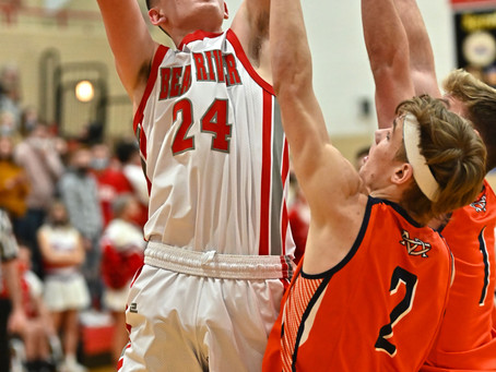 "SPORTS - Photo Gallery: ""Mustangs fall to Bears in Region 12 basketball"""