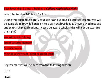 "SCHOOL - ""Bear River High College Application Night"""
