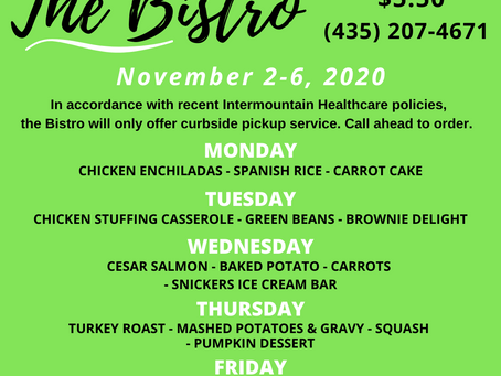 The Bistro - November 2-6, 2020