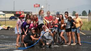 "COMMUNITY - ""Splashing around with the Lady Bears tennis team"""