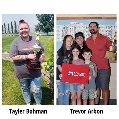 "SPORTS - ""Tayler Bohman and Trevor Arbon take home Skyway Golf Club Championship titles"""