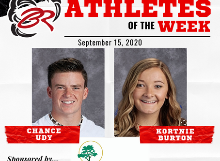 HEADLINER ATHLETES OF THE WEEK - Chance Udy and Kortnie Burton