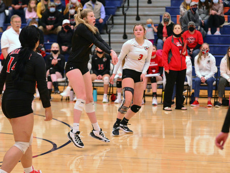 "SPORTS - ""Bears take a loss to Mustangs in region volleyball"""