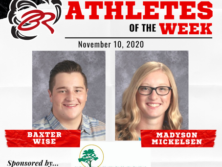 HEADLINER ATHLETES OF THE WEEK – Baxter Wise and Madyson Mickelsen – November 10, 2020