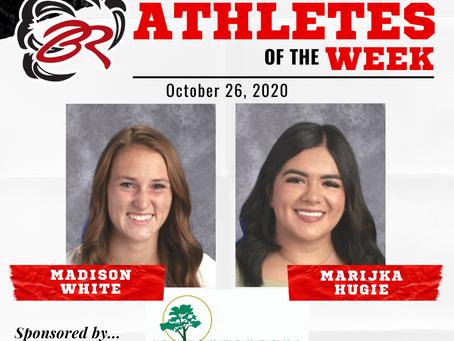 HEADLINER ATHLETES OF THE WEEK – Madison White and Marijka Hugie – October 26, 2020