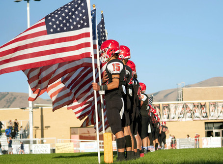 "SCHOOL – ""'We needed togetherness. We needed community' - patriotism on the football field"""