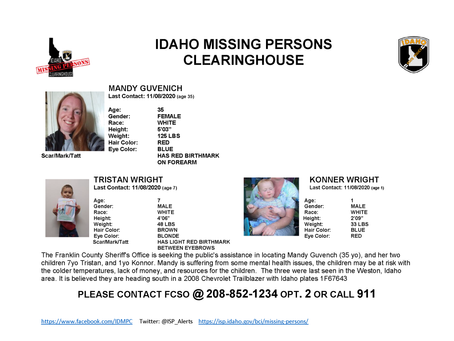 """NEWS – """"Idaho issues a missing persons report for possible Utah bound family"""""""