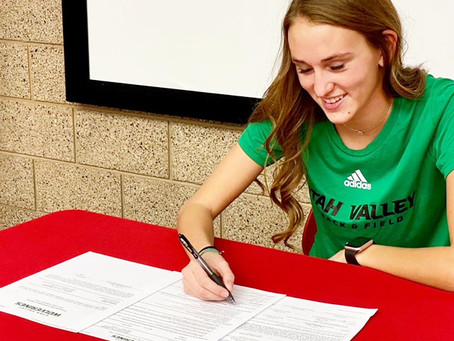 "SPORTS – ""Madison White signs letter of intent to UVU"""