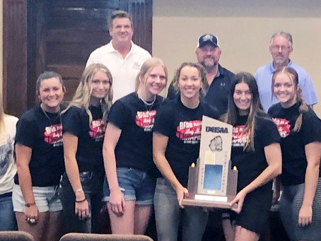 """SPORTS - """"Bear River High state softball champs recognized by county commissioners"""""""
