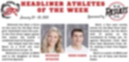 Headliner Athlete of the Week 1-20-20 (1