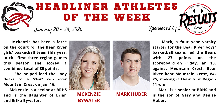 Headliner Athlete of the Week 1-20-20 (1