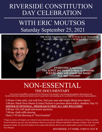"""COMMUNITY - """"Celebrate Constitution Day in Riverside with guest speaker Eric Moutsos"""""""