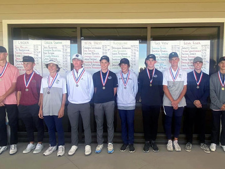 "SPORTS – ""Giles takes first in Region 11 golf; Bears take second"""