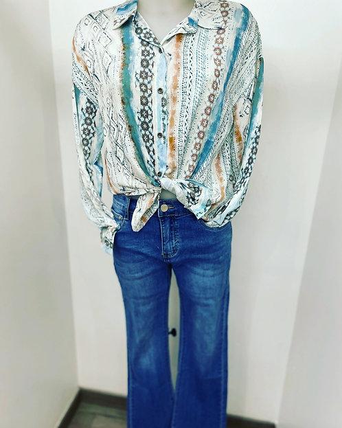 Jeans évasé bas