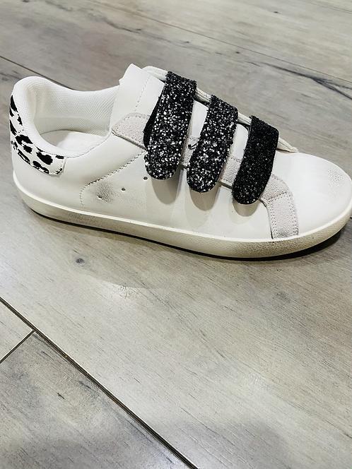 Baskets scratch blanc/noir