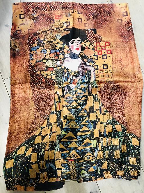 Foulard 100% soie imprimé Klimt