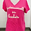 Thumbnail: T-shirt Mademoiselle en baskets Fushia