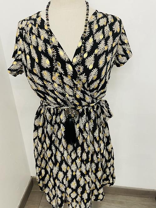 Robe imprimée noire et dorée ⭐️