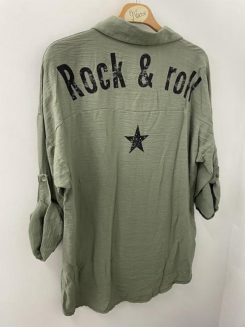 Chemise rock 'n' roll kaki