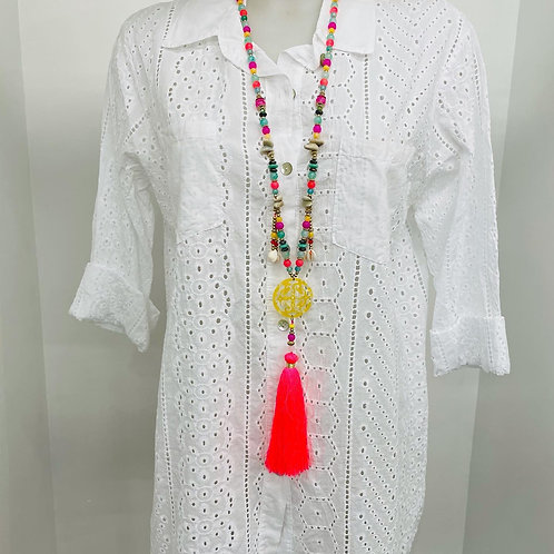Chemise blanche broderie anglaise 🌺