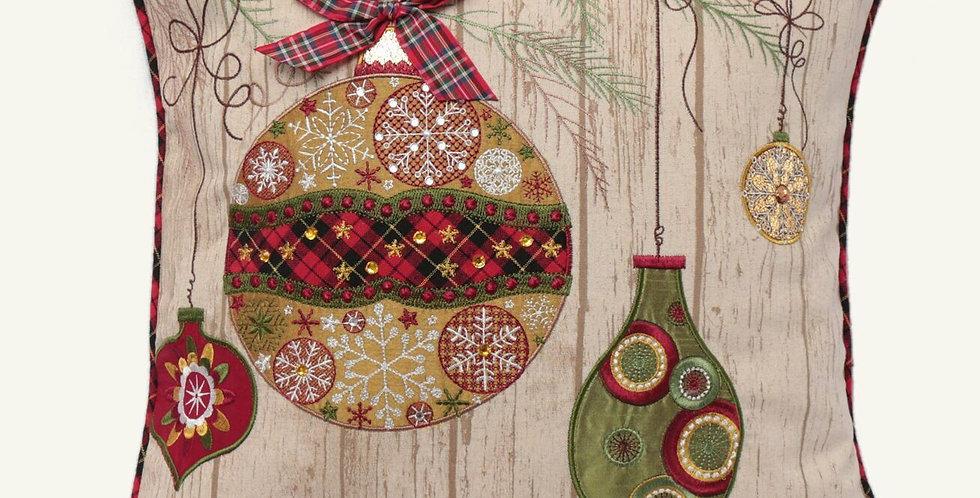 Ornamental Christmas pillow