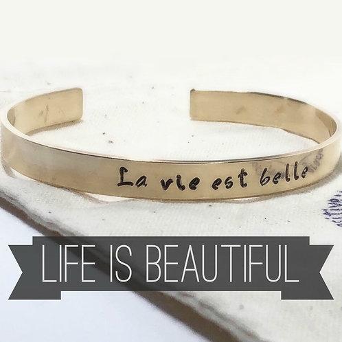 La Vie Est Bell, French Bracelet, Life Is Beautiful