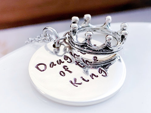 Daughter of the King Necklace with Crown Charm
