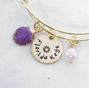 Florida Keys Gold Charm Bracelet