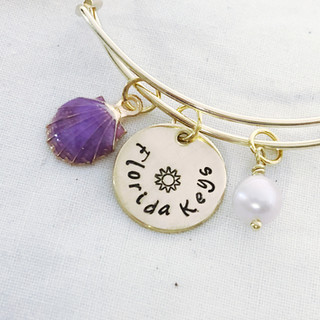 Florida Keys Gold Charm Bracelet