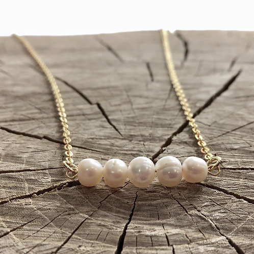 Pearl Bar Layering Necklace