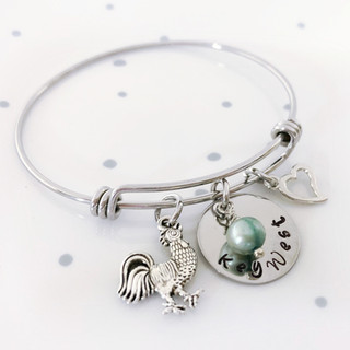 key west chicken charm bracelet