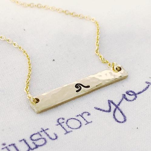 Wave, Gold, Bar Necklace